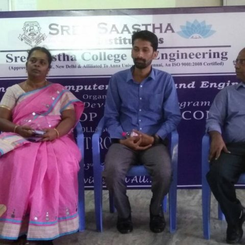 3 DAYS FDP ON BIGDATA HADOOP AND CLOUD COMPUTING @ Sree Sastha College of Engineering,Chennai