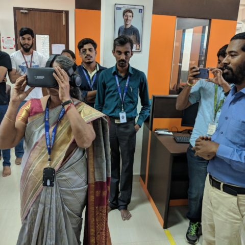 3 Days workshop on Virtual Realty Development at Hindustan University